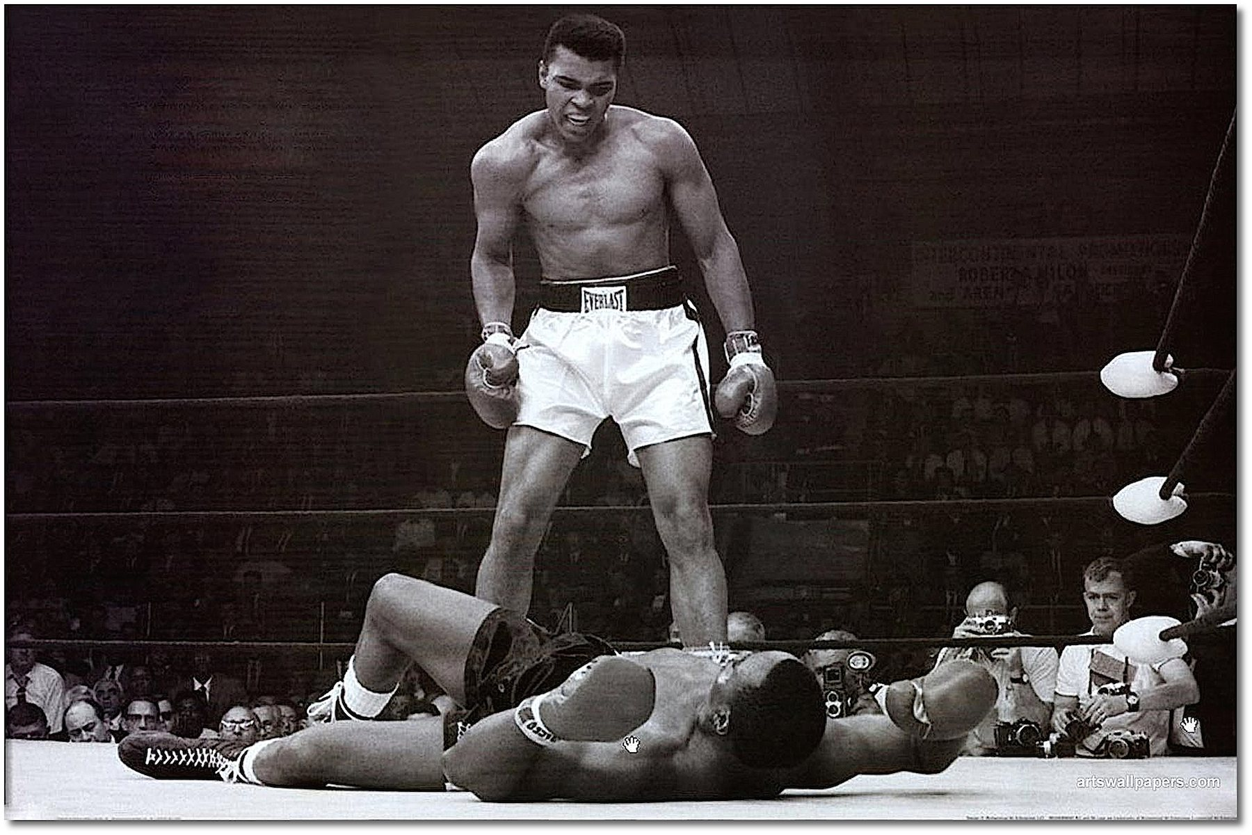 Poster Photo Art - Ali Beats Liston