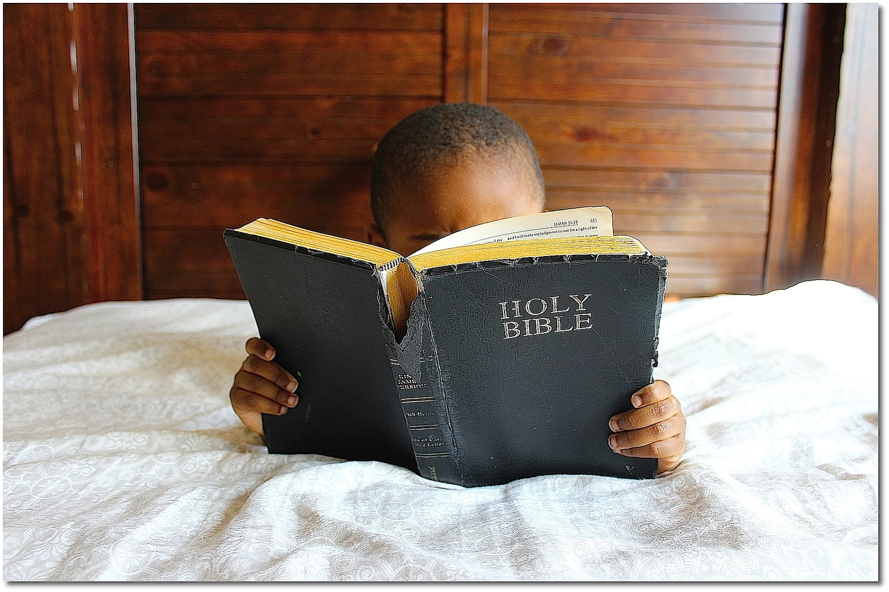 Poster Photo Art: A Boy and His Bible