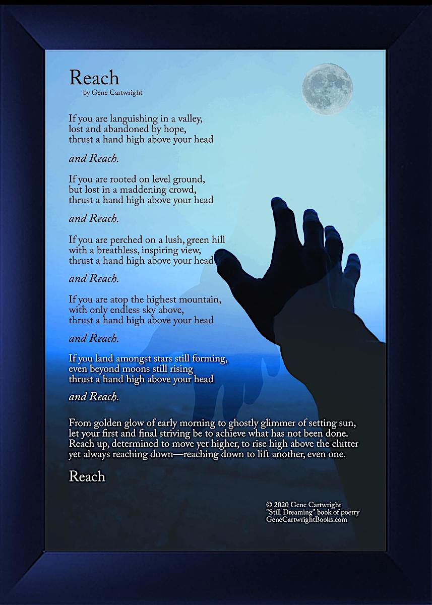 Reach - Poetry Art
